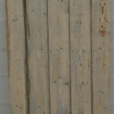 Ledged pine door