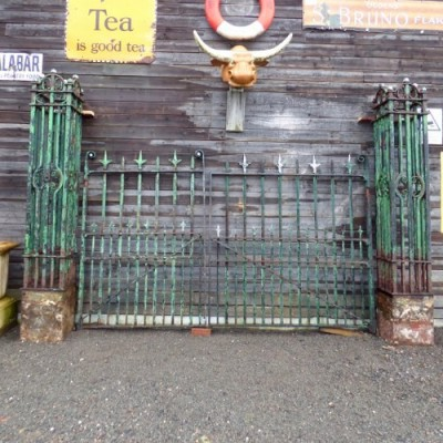 Large Green Wrought Iron Reclaimed Victorian Gates
