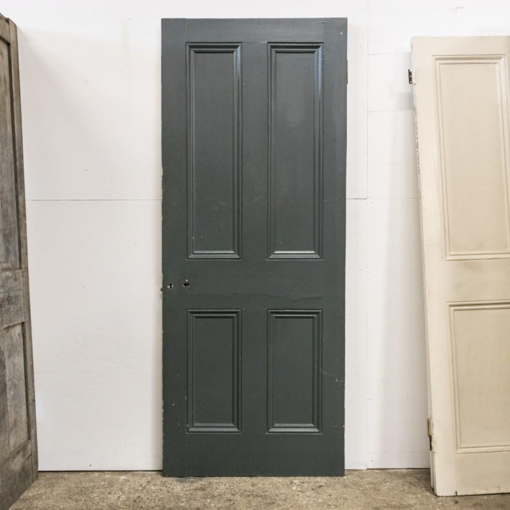 Antique Victorian 4 Panel Door - 199.5cm x 80cm