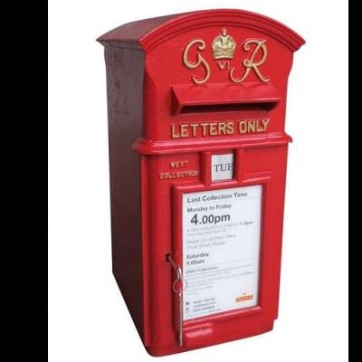 Original Cast Iron George 6th Pole Mounted Post Box