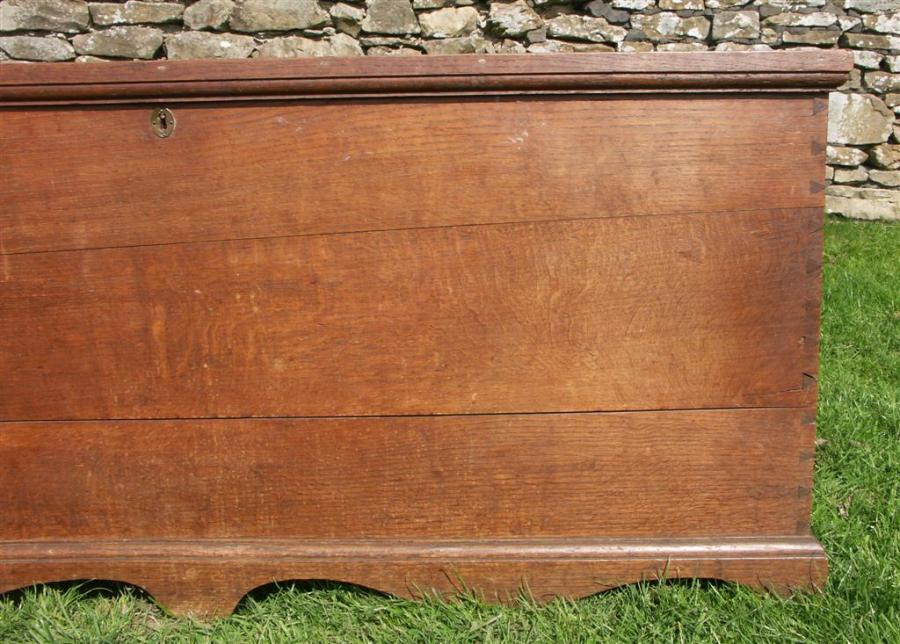 large antique oak chest  coffer - 18th century