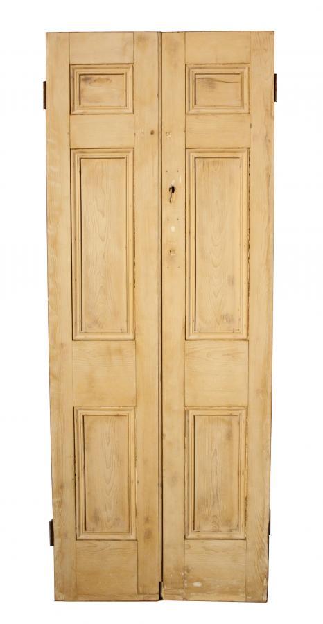 For Sale A Pair Of Georgian Stripped Pine Closet Doors Salvoweb Uk