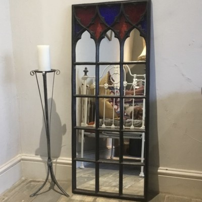 Victorian Cast Iron Window Mirror