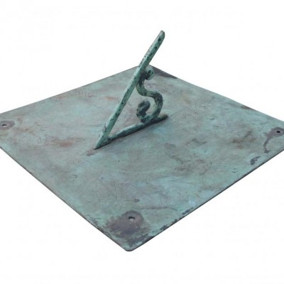 An antique English bronze sundial