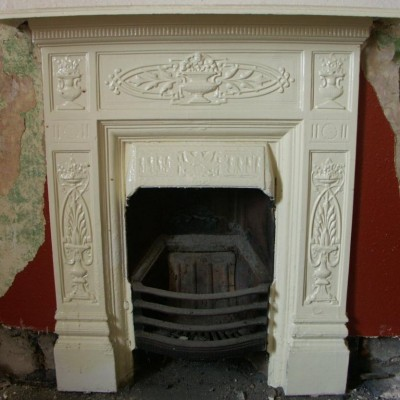 victorian cast iron combination fireplace