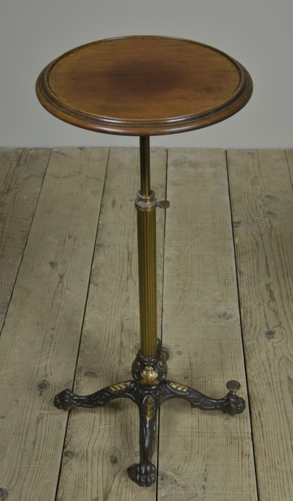 Iron & Gilt Brass Occasional Table