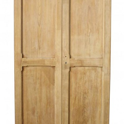 A pair of antique pine cupboard doors