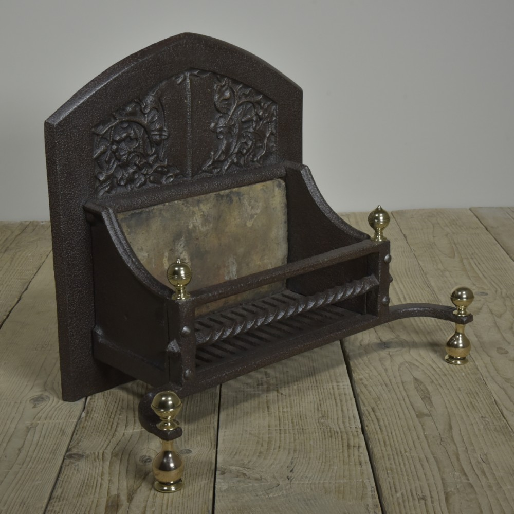 Arts & Craftes Dog Grate - 19th C Oak