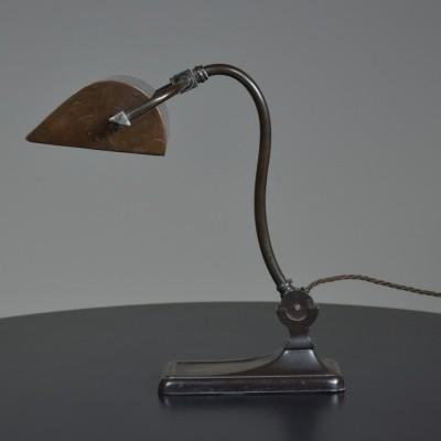 Antique Bronze Bankers Lamp