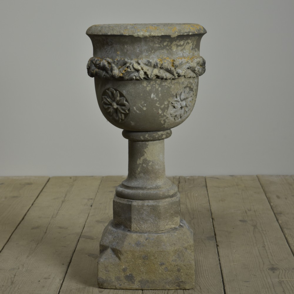 Carved Stone Urn / Font