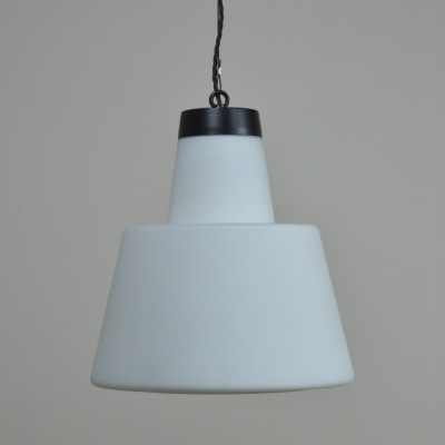 Stepped Conical Opaline Lights