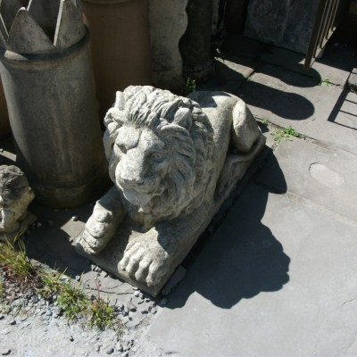 Carved stone lions