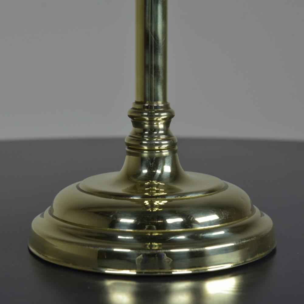 Knopped Stem Brass Lamp