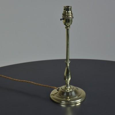 Baluster Stem Brass Lamp