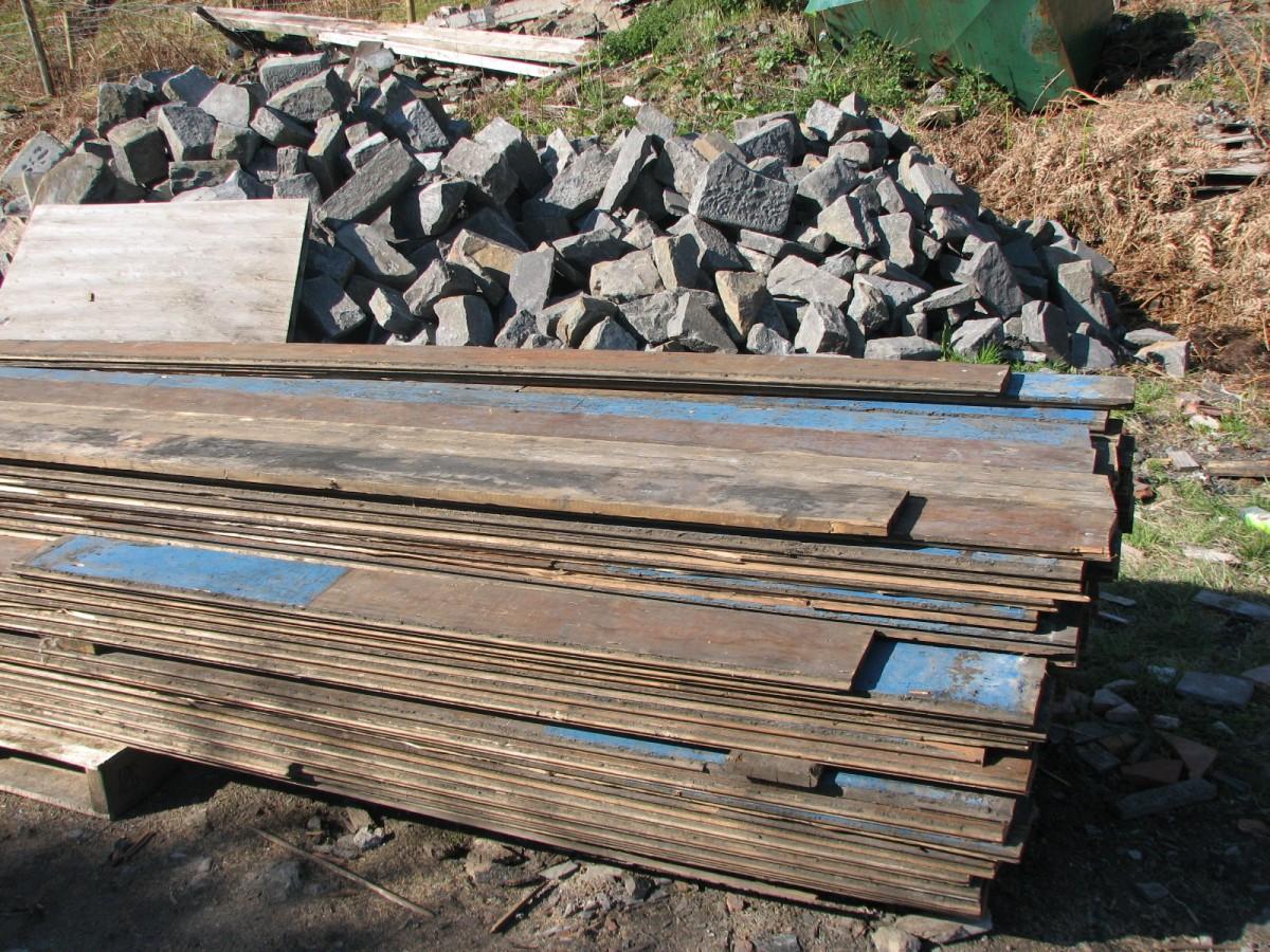Reclaimed victorian pine floorboards
