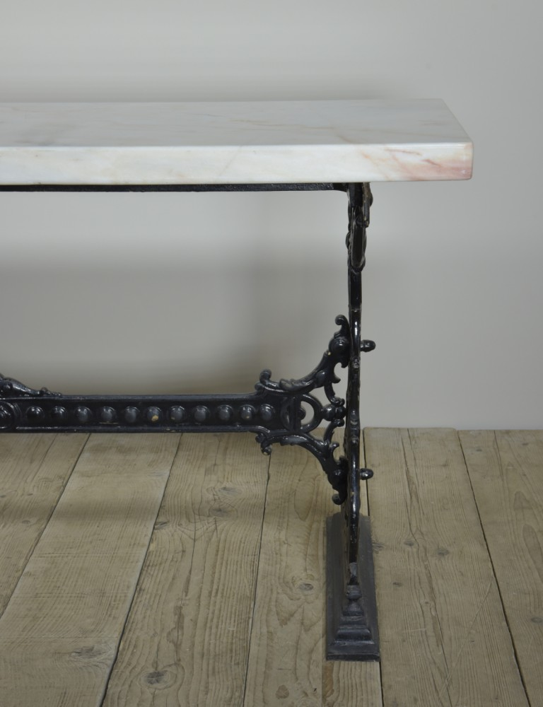Iron & Marble Table