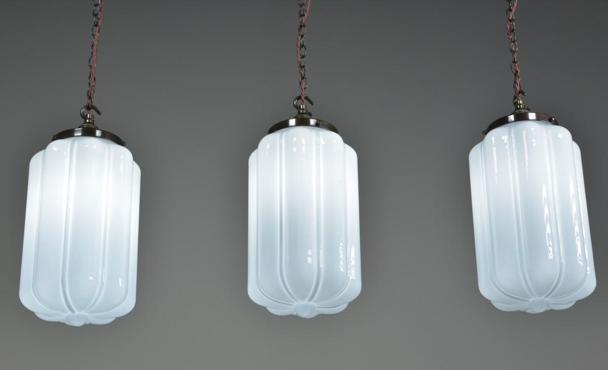 Lobed Opal Pendant Lights