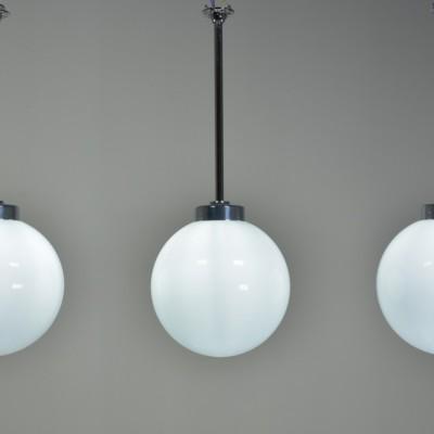 Opal Glass Globes on Stems