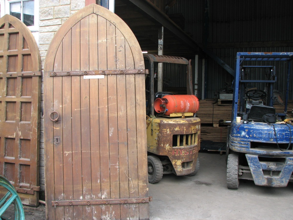 Arched church doors