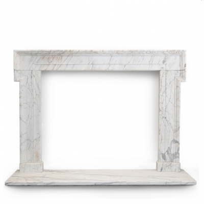 Large Antique Georgian Architectural Marble Chimneypiece