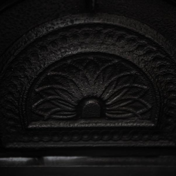 Antique Victorian Cast Iron Fireplace Insert
