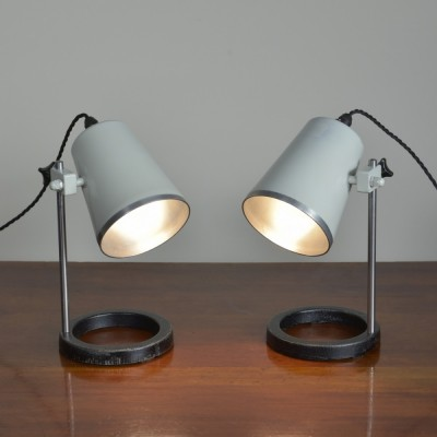 Pair Laboratory Bedside Lamps