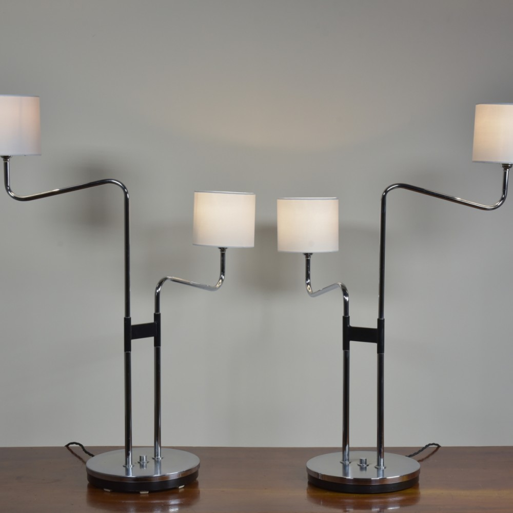 Rare Pair Lamps by Durlston Designs