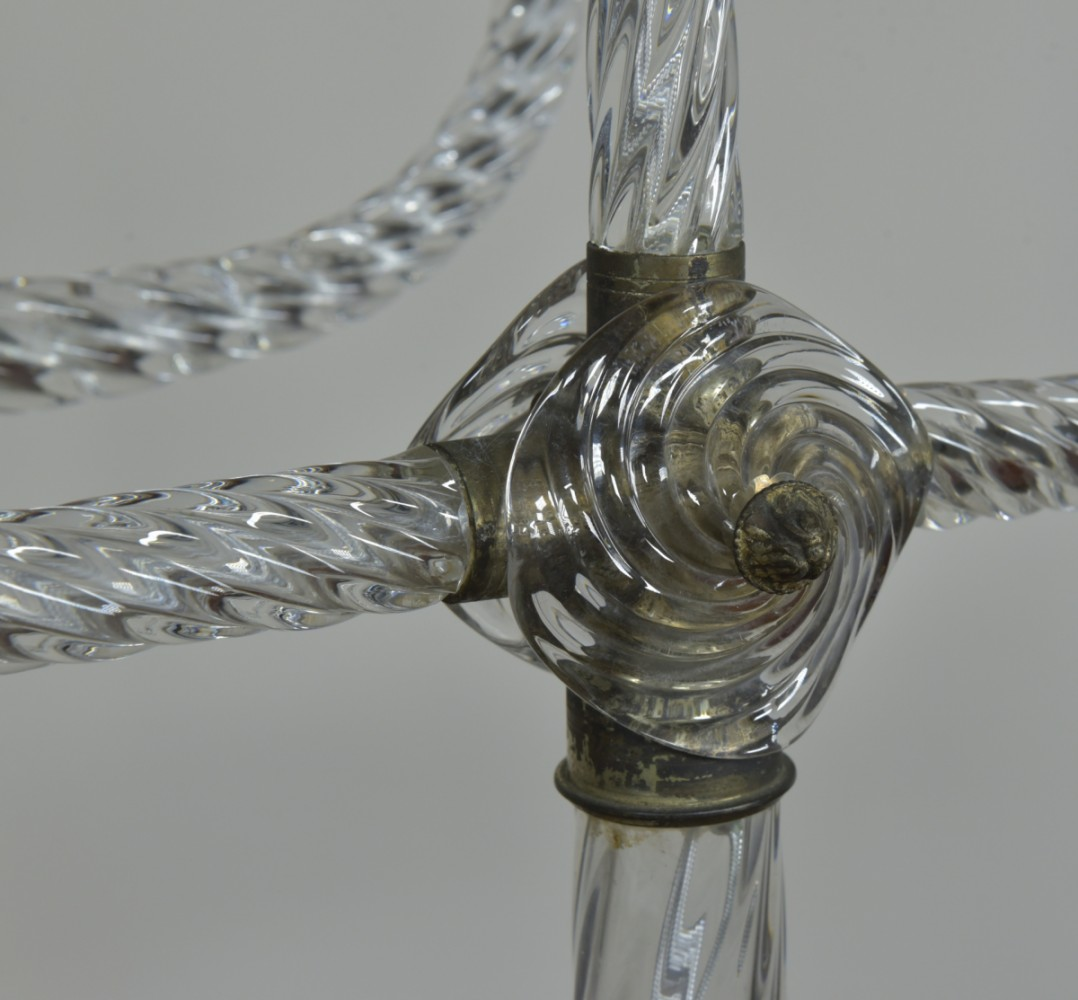 Pair Trident Murano Lamps