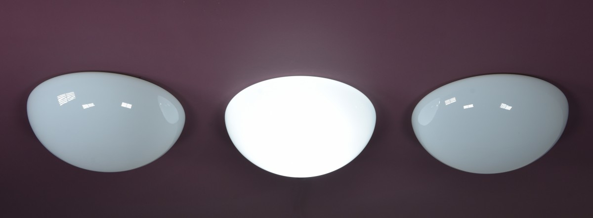 Domed Opaline Lights Surface Mount - 14inch