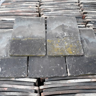 Reclaimed Roof Tiles Sold In Lots Of 100 Blue