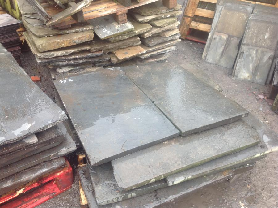 Reclaimed Welsh slate slabs