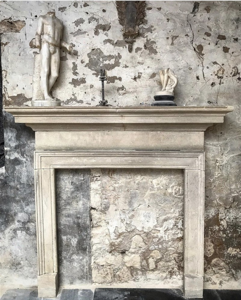 Reclaimed Bath Stone Georgian Fireplace