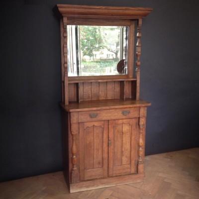 Antique Mirrored Oak Dresser