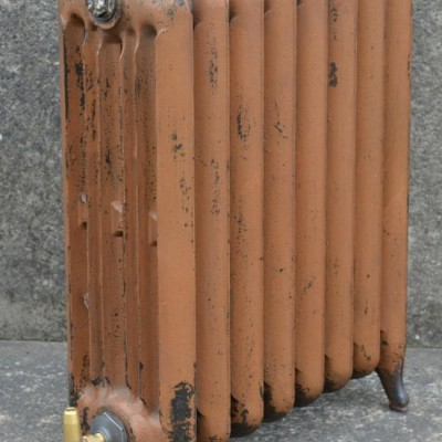 Antique deep princess cast iron radiators in original paint