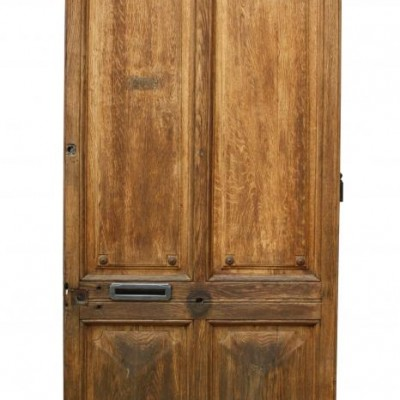 A large 19th Century French oak front door