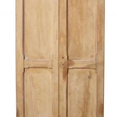 Pair of antique pine cupboard doors