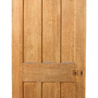A solid oak front door C. 1900