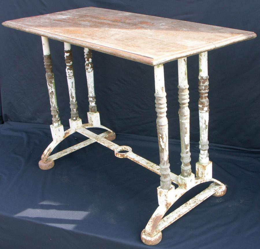 unusual steel and baluster table