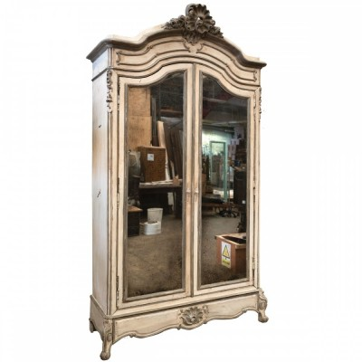 Antique French Carved Oak Louis XV Style Armoire