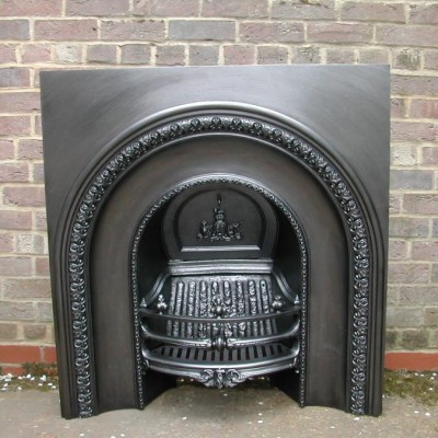 Victorian arched fireplace