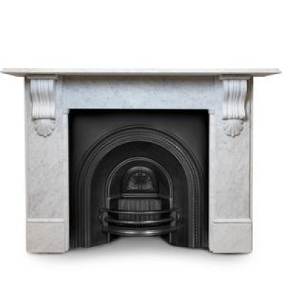 Large Victorian Style Carrara Marble Chimneypiece