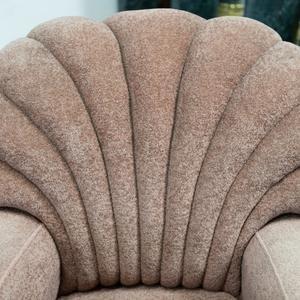Art Deco 3 Piece Suite Shell-Back Sofa & Armchairs