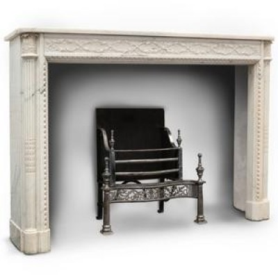 Exceptional Antique Louis Xvi Style Marble Chimneypiece