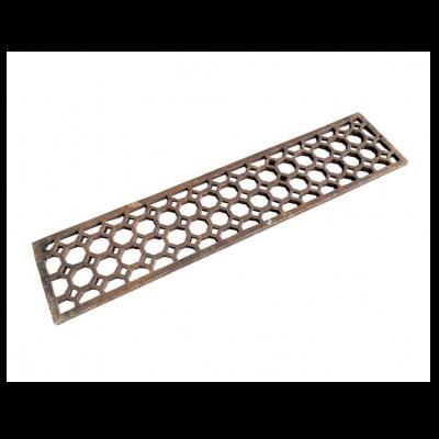 Original Genuine Antique Octagon Cast Iron Floor Grille / Grid