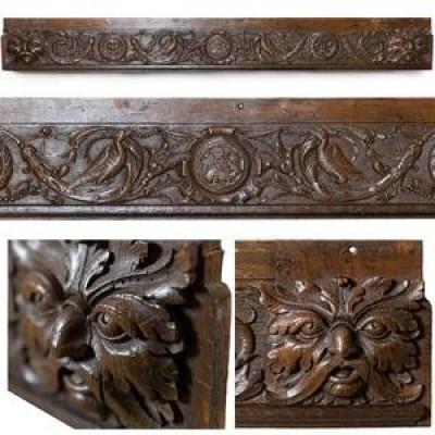 Antique Ornately Carved Wooden Element
