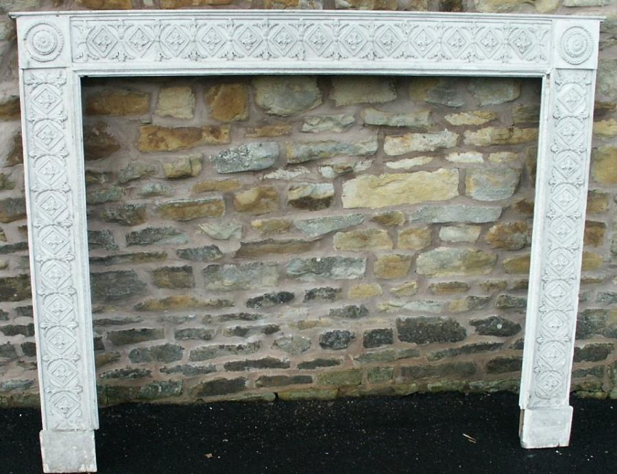 georgian pine and gesso fire surround