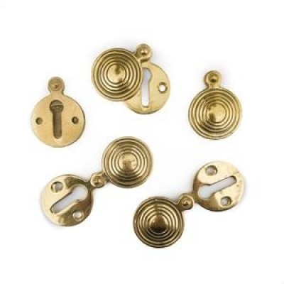 Reclaimed Solid Brass Beehive Escutcheons