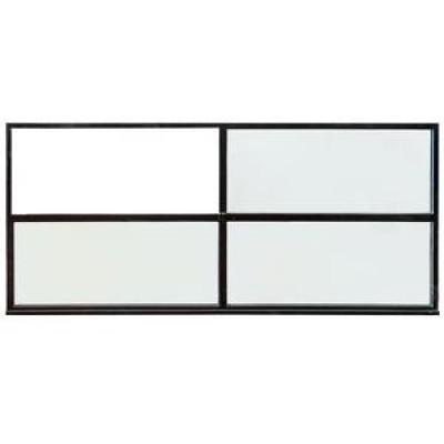 Genuine Crittall Glazed Panels , Black Steel Frame (3 Available)