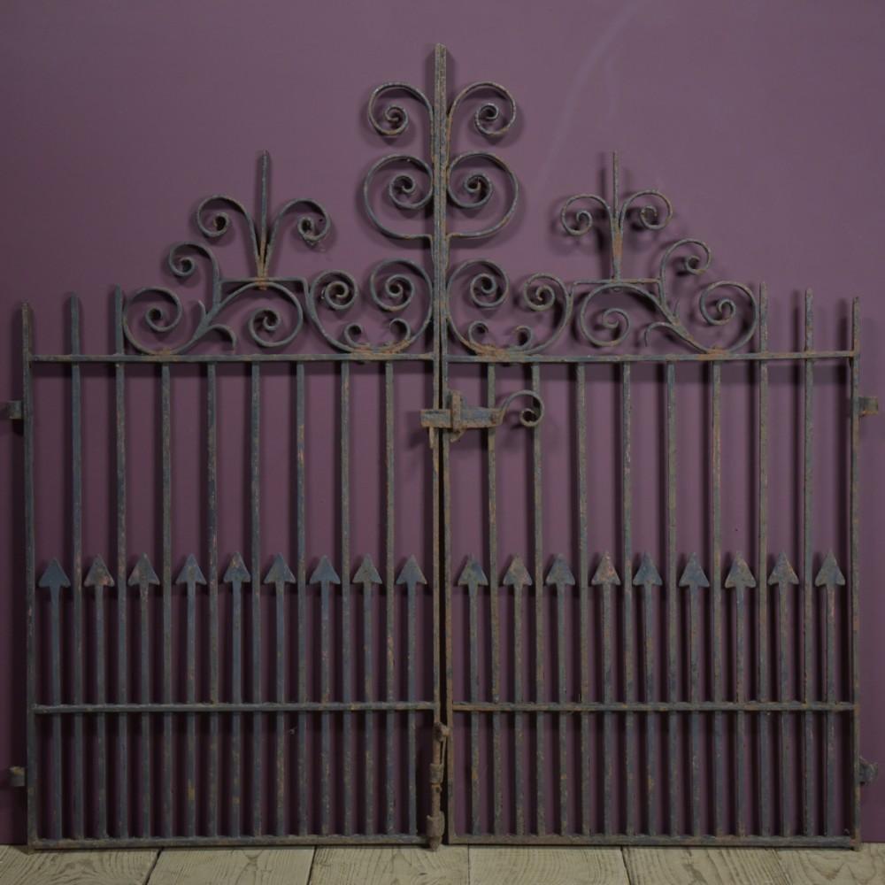 Pair Antique Iron Gates