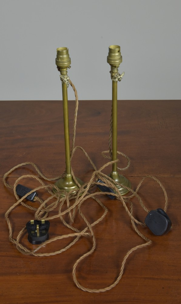 Pair Brass Table Lamps - Extendable